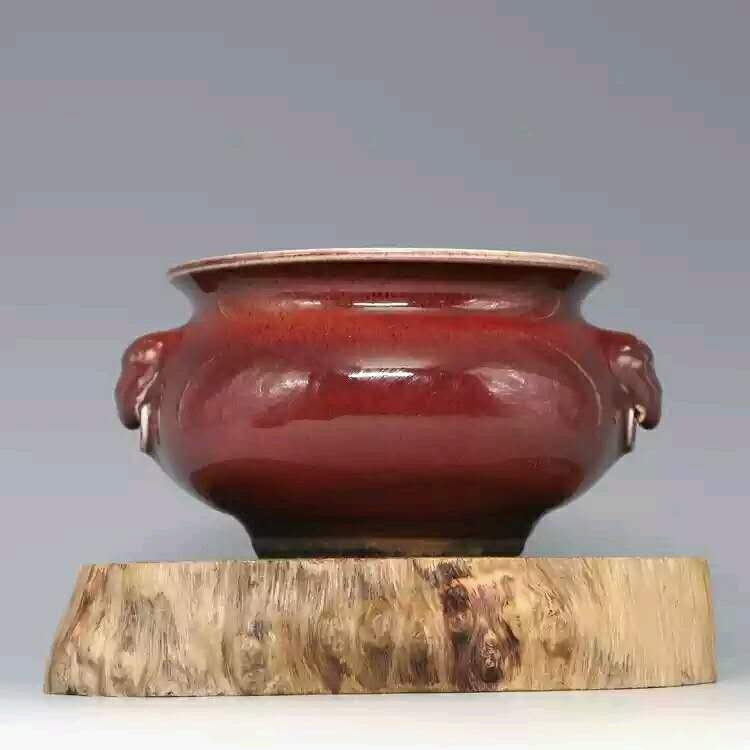 Collection of Chinese red galzed porcelain censer