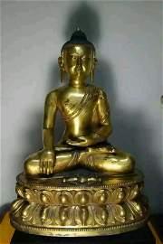 Fine bronze buddhist gold gilt figure statue