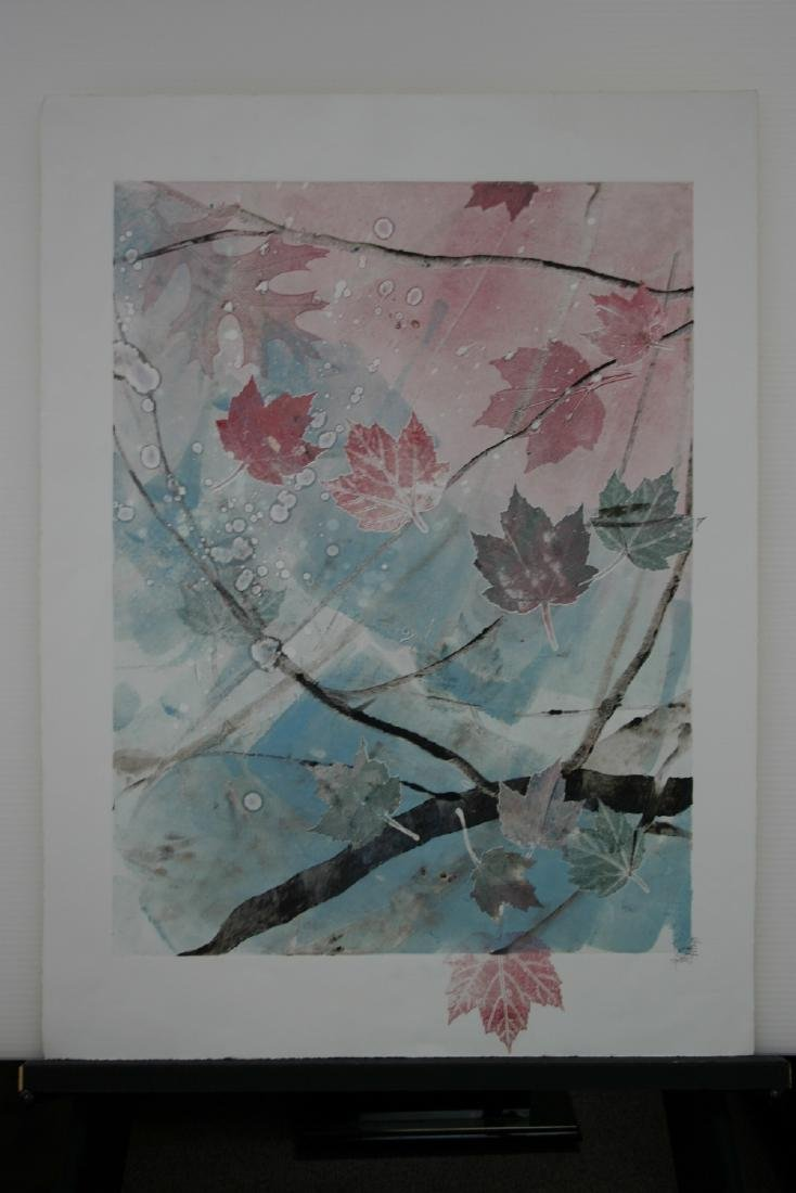 DENNIS FRINGS, Title: Leaves, Original Monoprint.