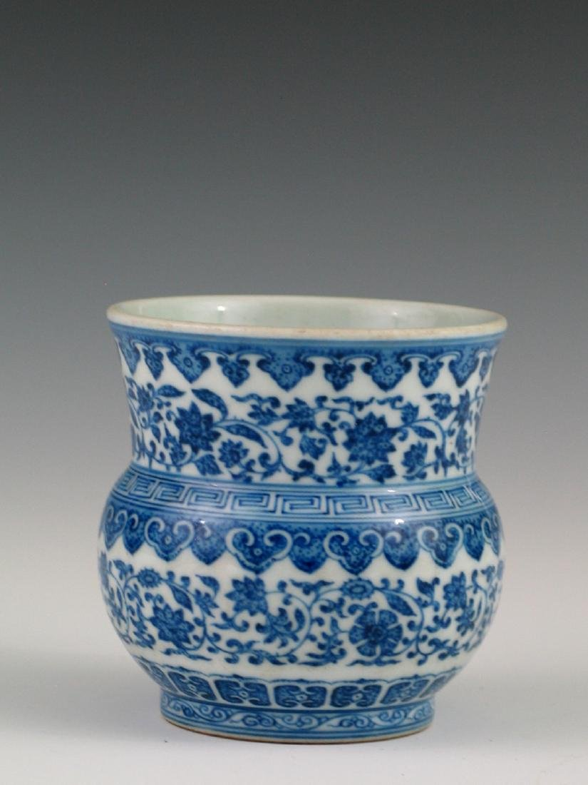 Chinese blue and white porcelain vase, Daoguang mark.