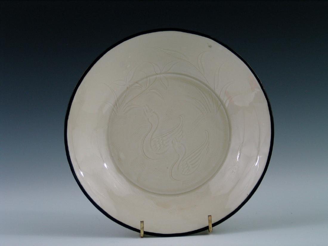 Chinese Ding Ware porcelain plate.