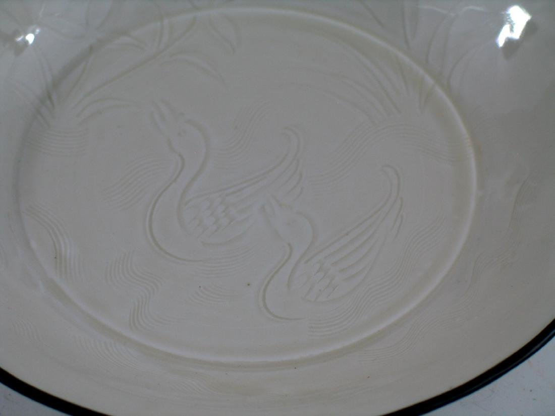 Chinese Ding Ware porcelain plate. - 2