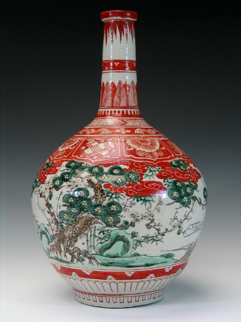 Antique Japanese porcelain vase.