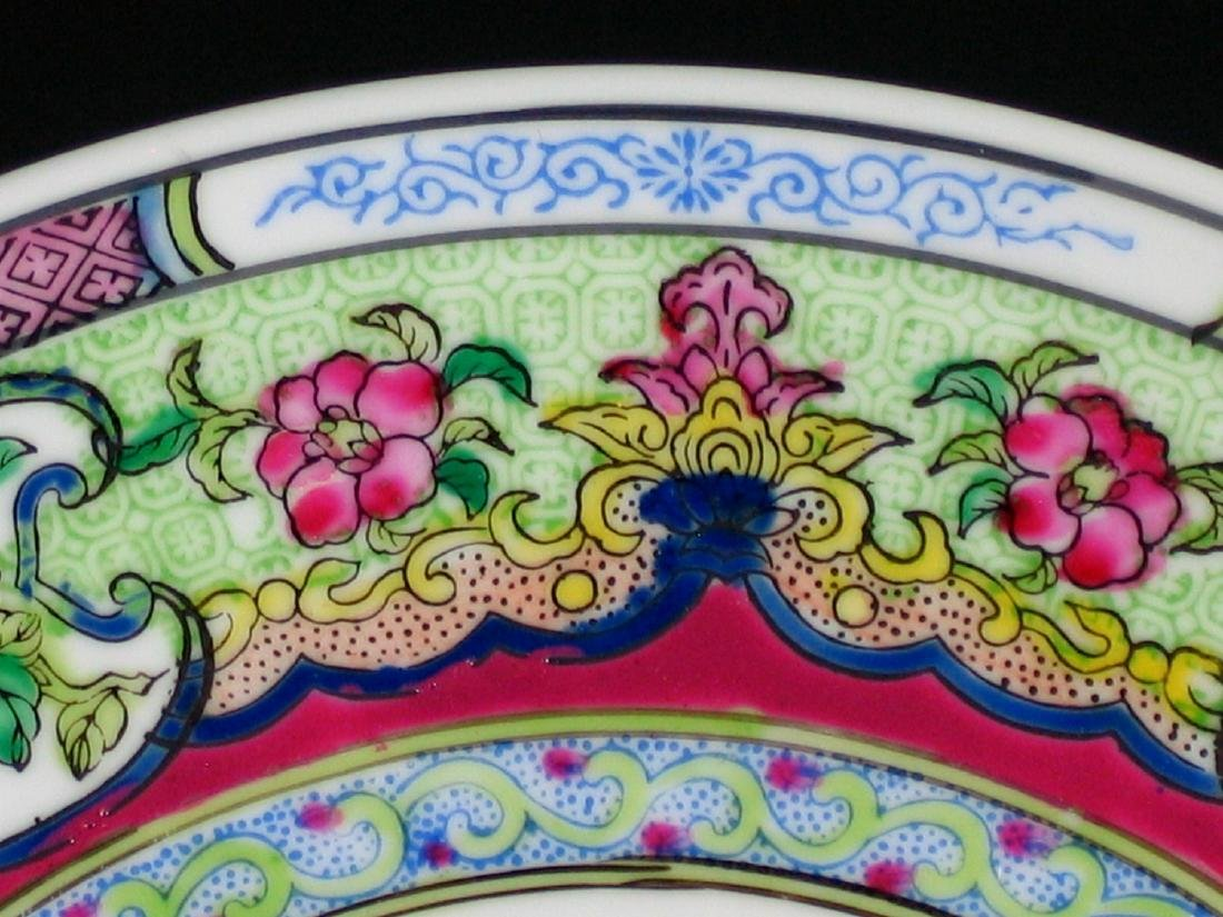 Chinese famille rose porcelain plate, Qianlong mark. - 3