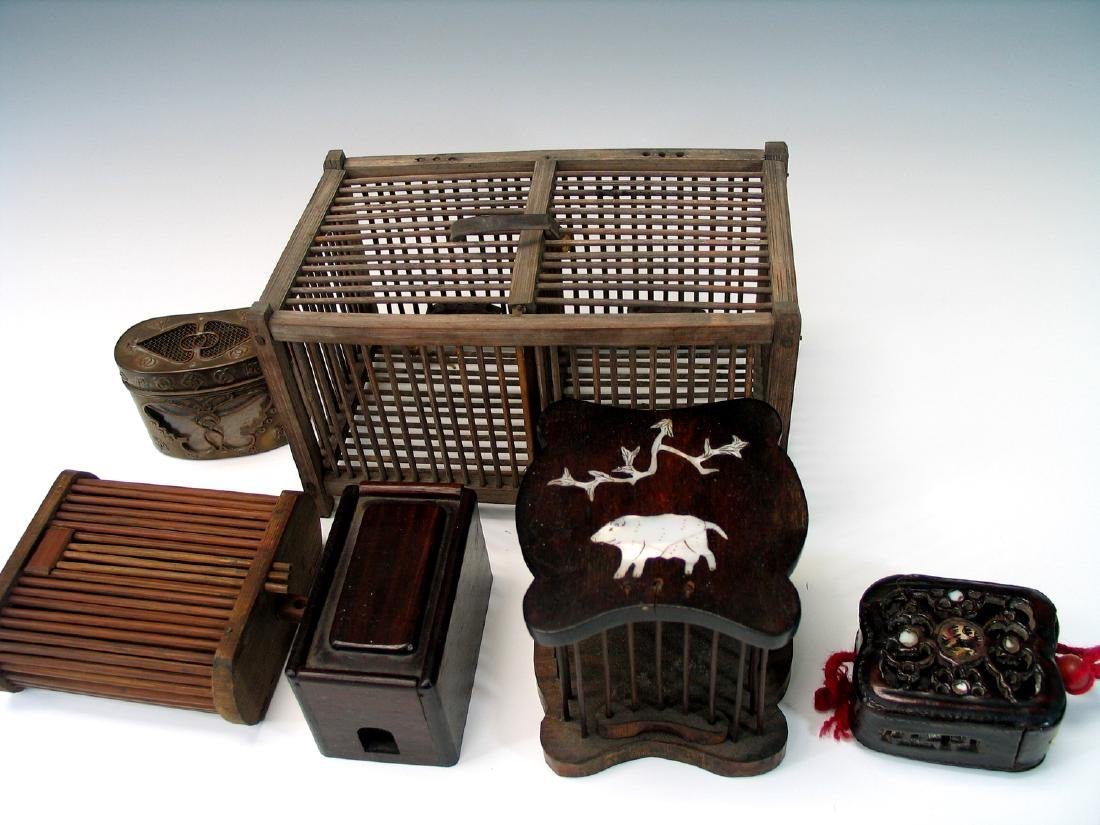 Group of Chinese cricket cages - 2
