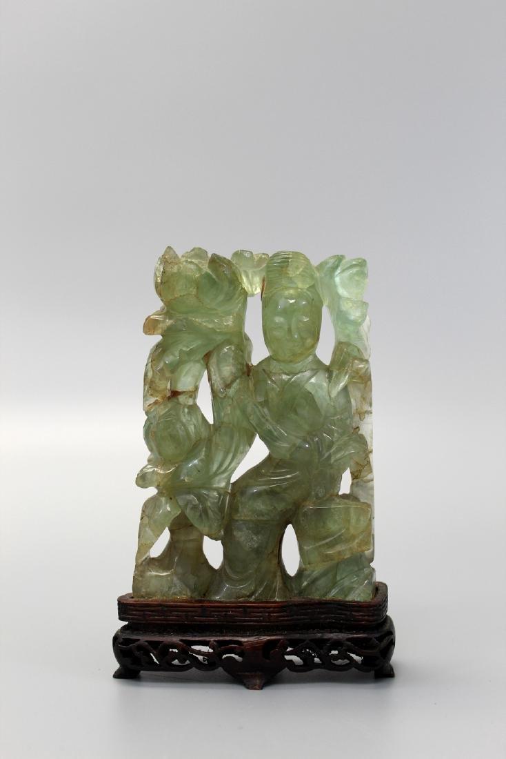 Chinese rose quartz carving.