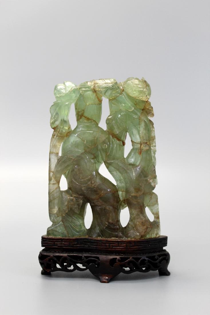Chinese rose quartz carving. - 2