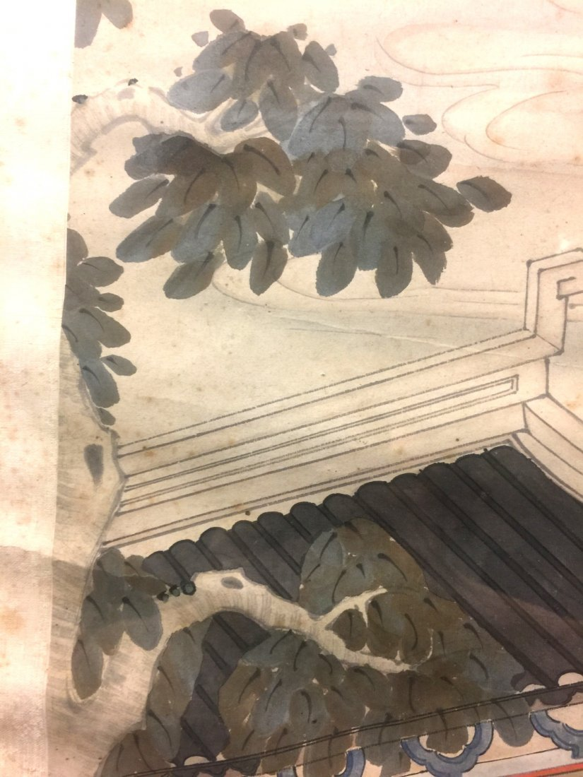 Two Chinese water color painting on paper, Signed Kang - 10