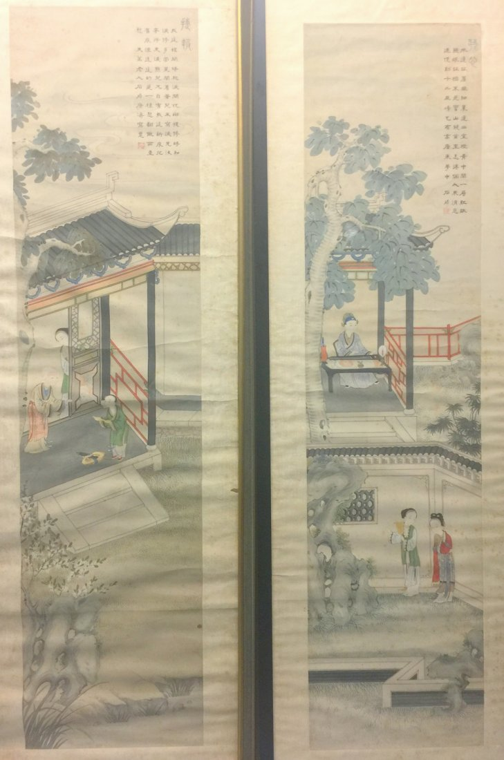Two Chinese water color painting on paper, Signed Kang