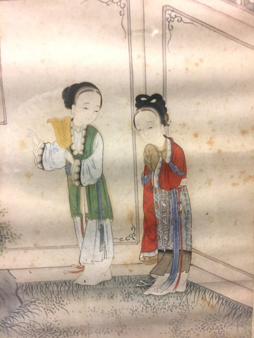 Two Chinese water color painting on paper, Signed Kang - 7
