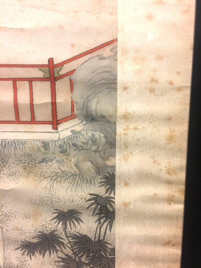 Two Chinese water color painting on paper, Signed Kang - 9