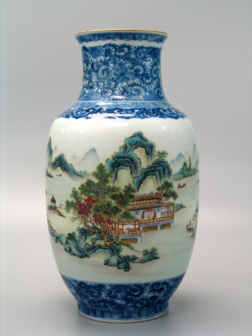 Chinese famille rose porcelain vase, Qianlong mark.