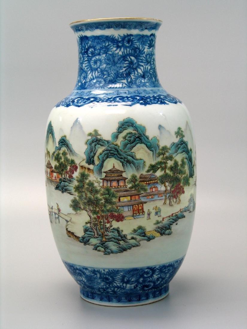 Chinese famille rose porcelain vase, Qianlong mark. - 2