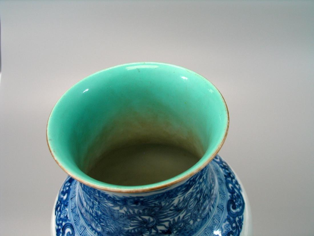 Chinese famille rose porcelain vase, Qianlong mark. - 5