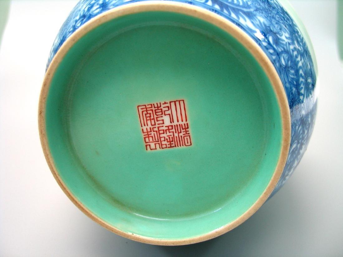 Chinese famille rose porcelain vase, Qianlong mark. - 6