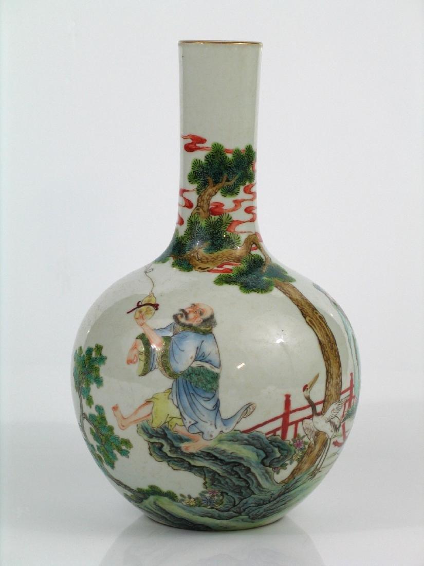 Chinese famille rose porcelain vase, Jiaqing mark.