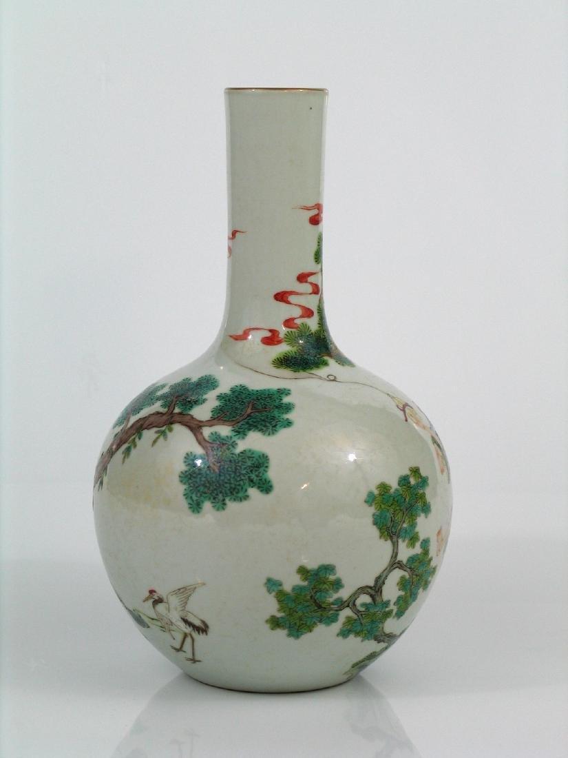Chinese famille rose porcelain vase, Jiaqing mark. - 3