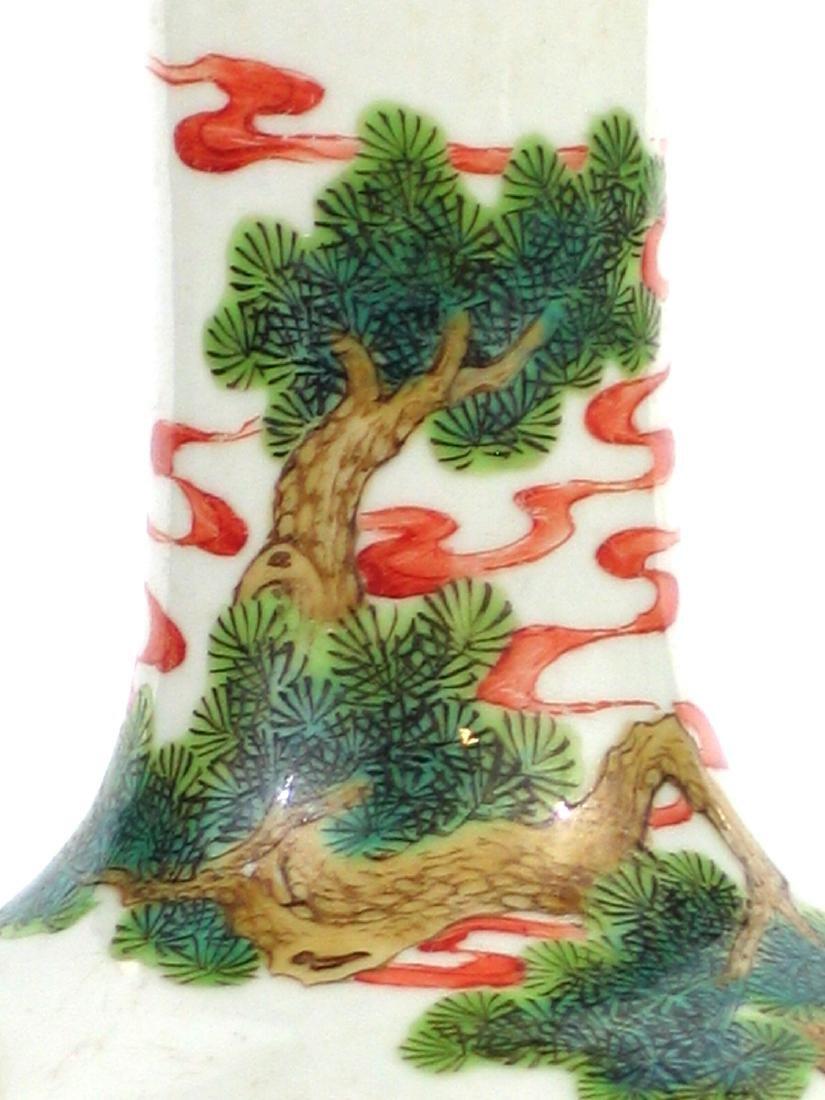 Chinese famille rose porcelain vase, Jiaqing mark. - 4