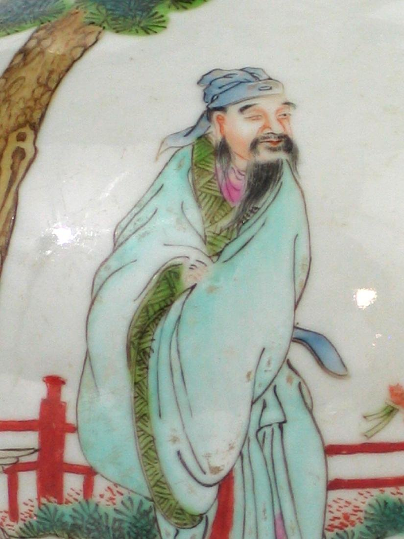 Chinese famille rose porcelain vase, Jiaqing mark. - 5