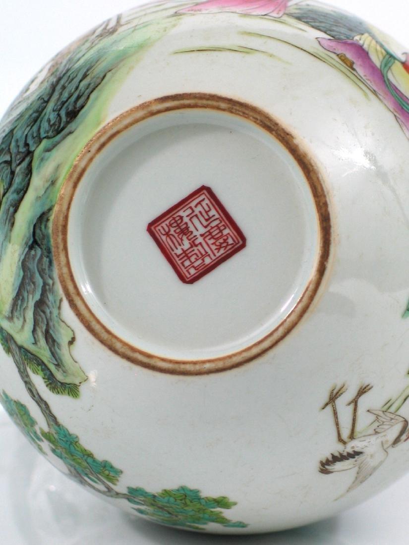 Chinese famille rose porcelain vase, Jiaqing mark. - 7