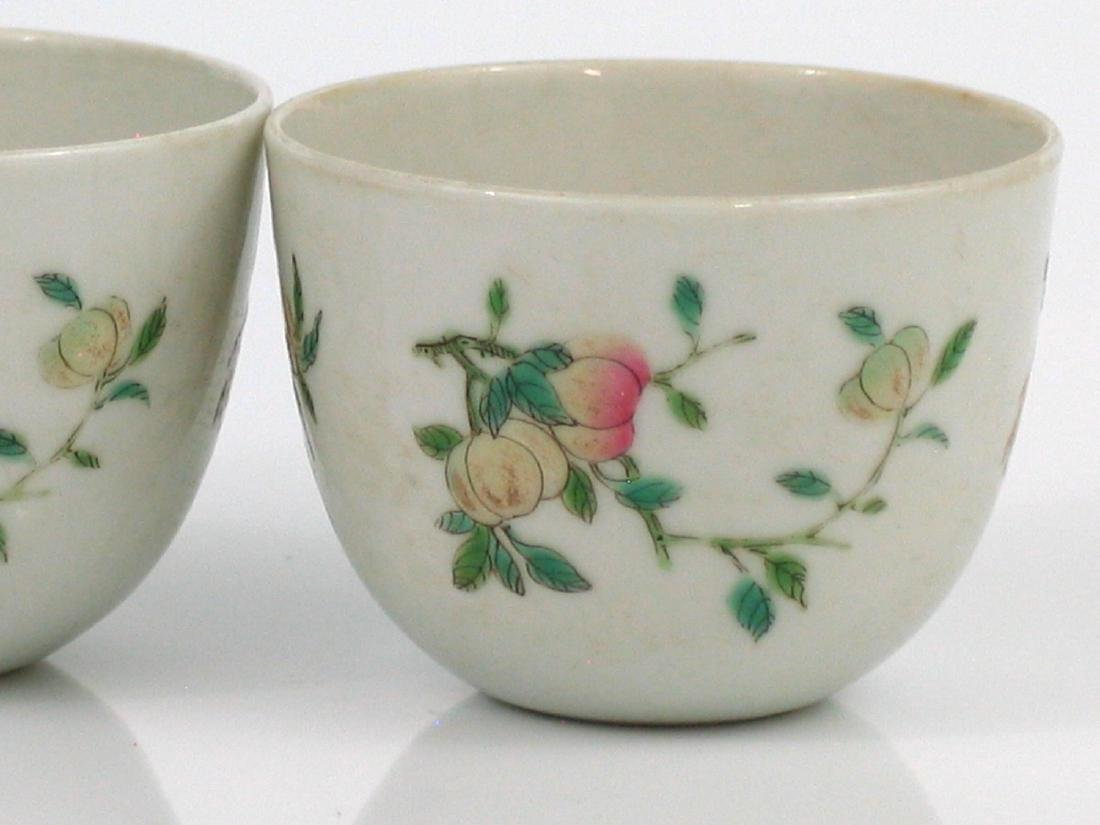 Pair Chinese famille rose porcelain cups, Qianlong - 2