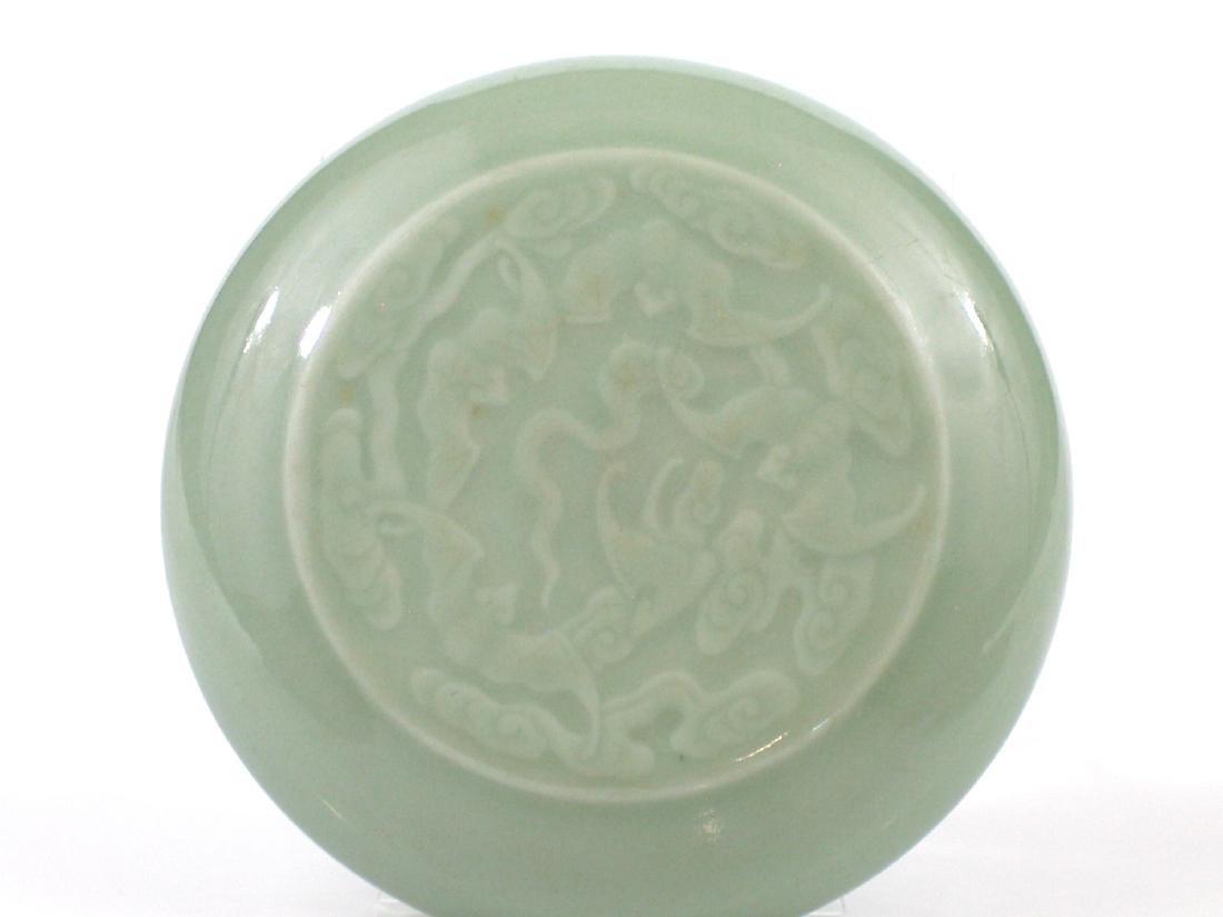 Chinese celadon porcelain box. - 2