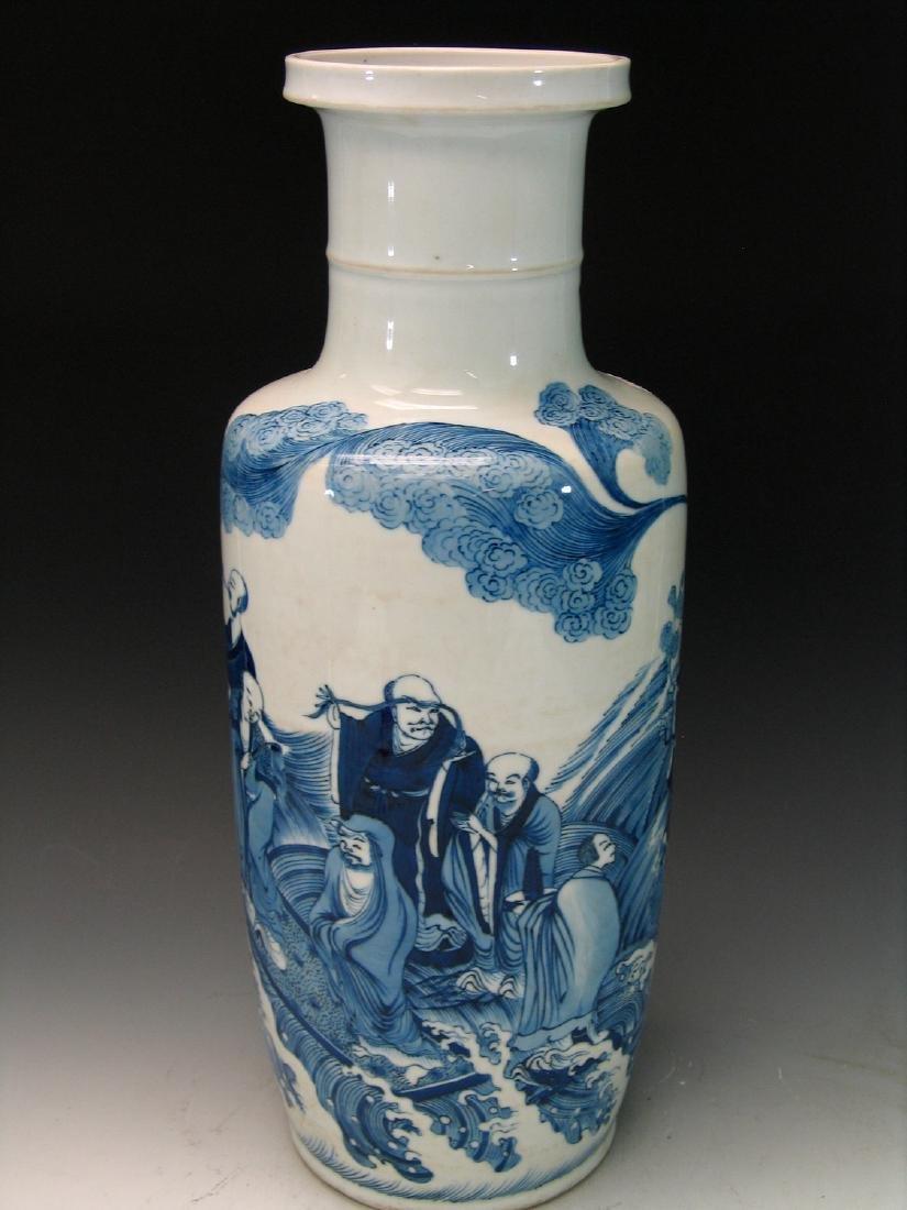 Big Chinese blue and white porcelain vase