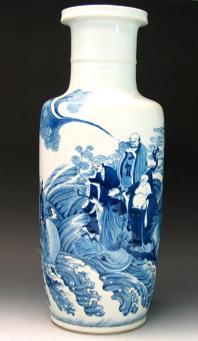 Big Chinese blue and white porcelain vase - 5