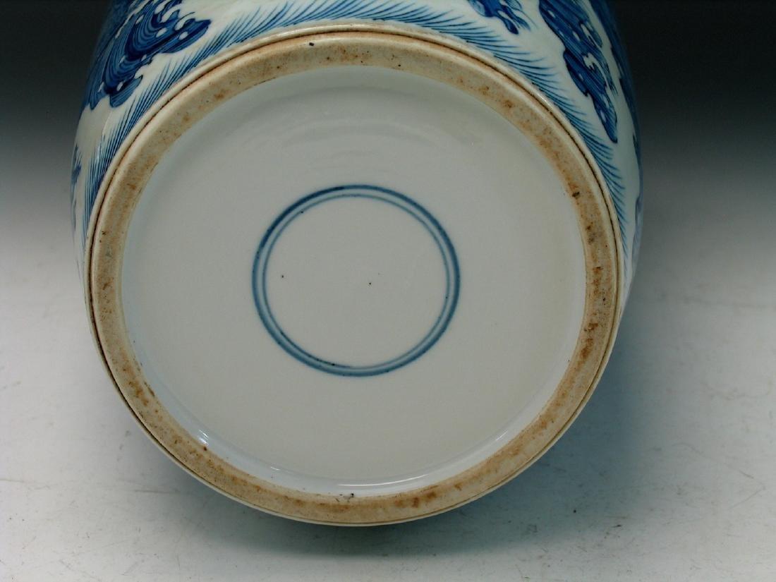 Big Chinese blue and white porcelain vase - 6
