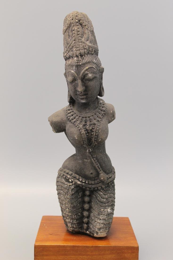 Indian sandstone Buddha statue.