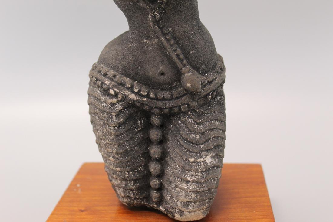 Indian sandstone Buddha statue. - 2