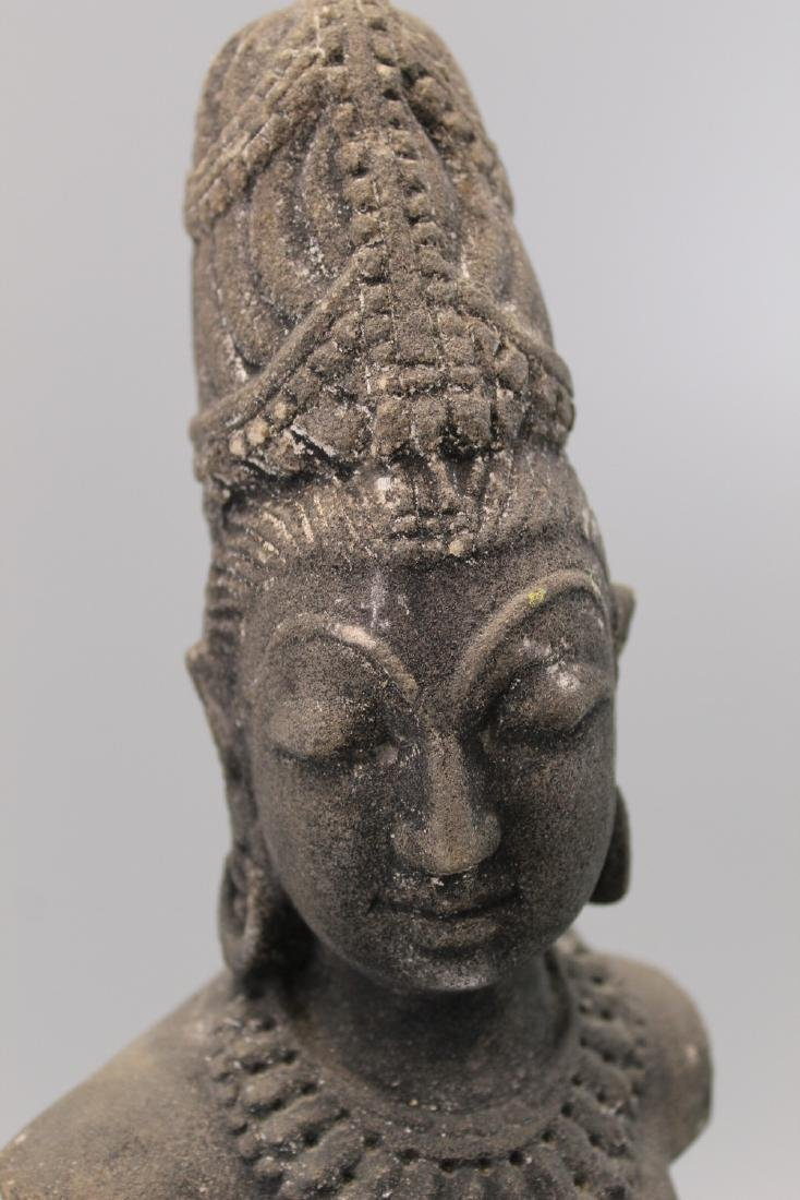 Indian sandstone Buddha statue. - 3