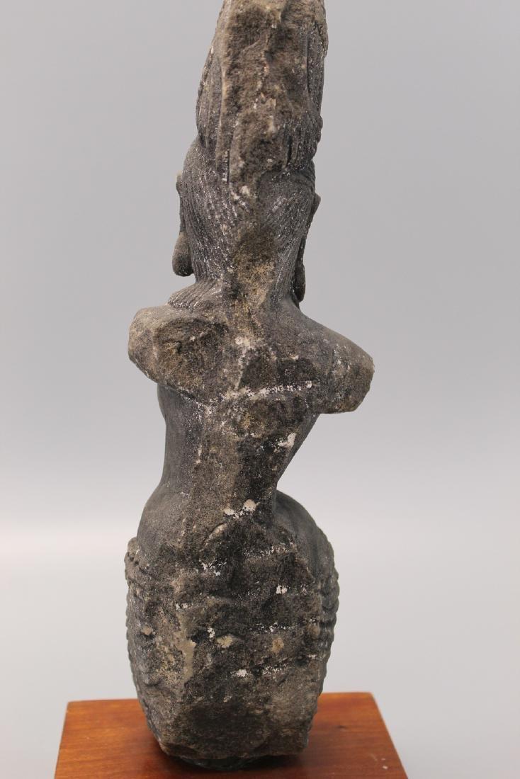 Indian sandstone Buddha statue. - 4