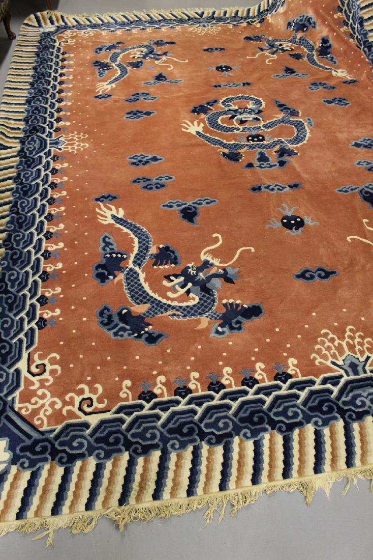 Chinese imperial style room size carpet with dragon
