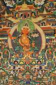 Tibetan thangka on silk,