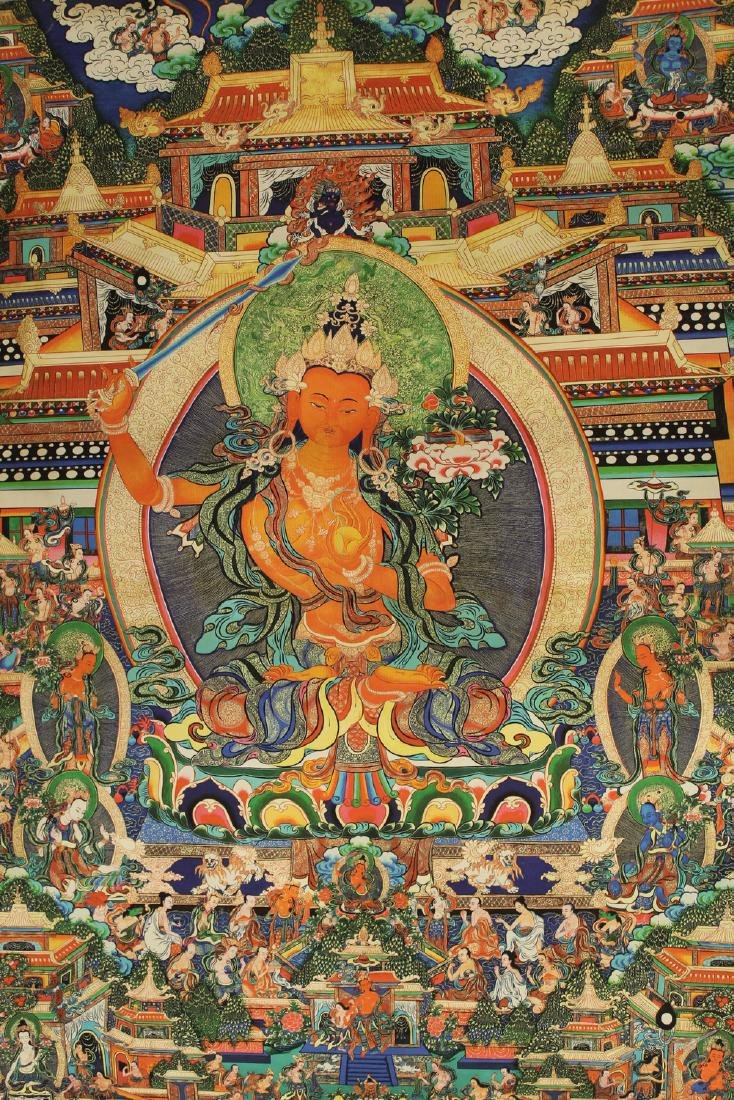Tibetan thangka on silk,