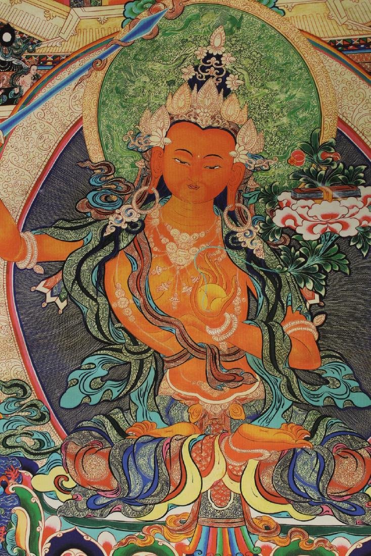 Tibetan thangka on silk, - 2