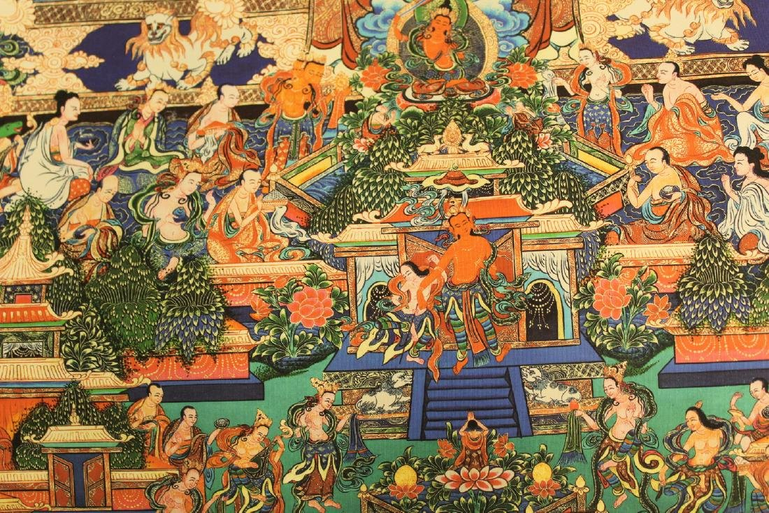 Tibetan thangka on silk, - 3