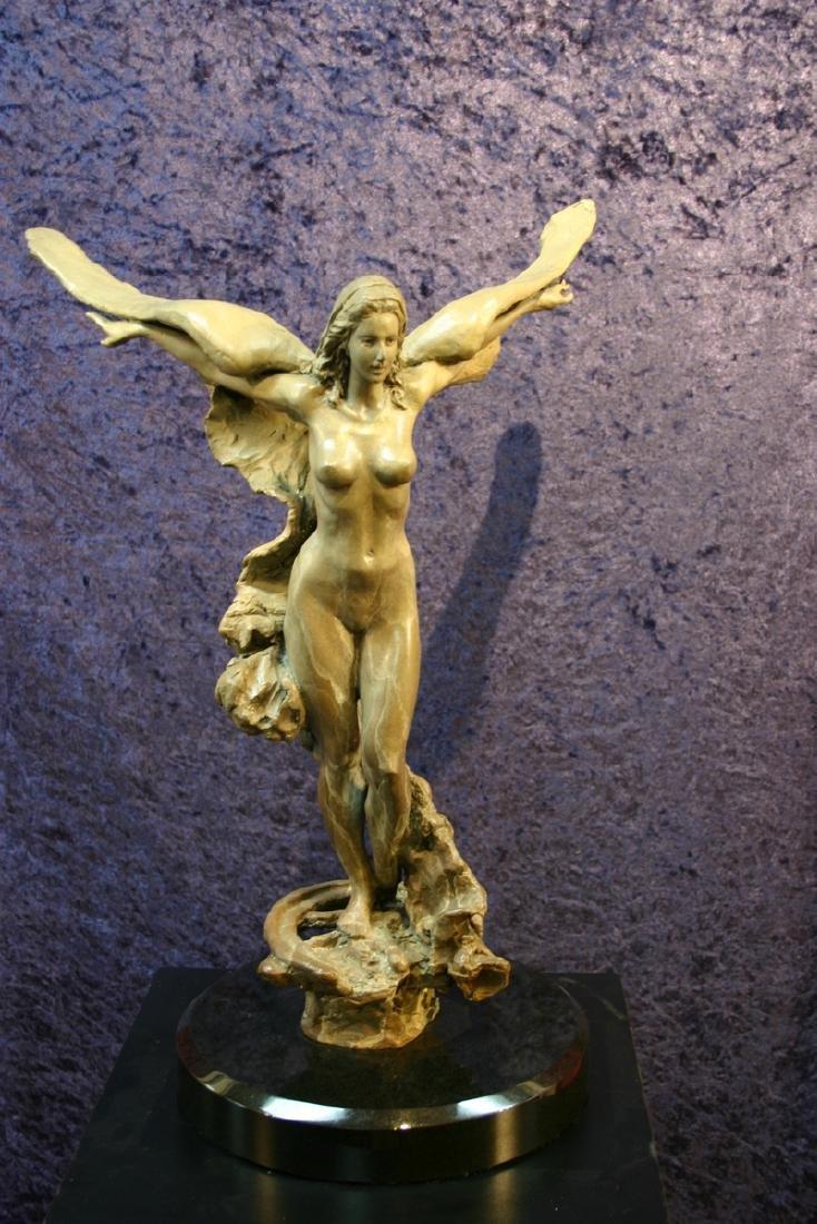 TUAN, Golden Wings, Limited Edition Bronze Sculpture,