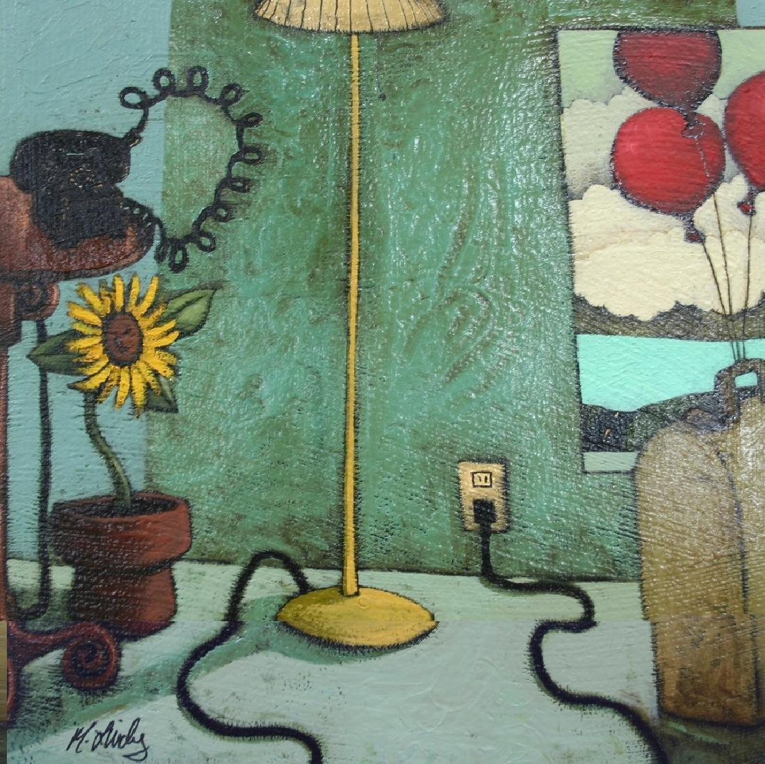 """MATT LIVELY, Title """"Float""""Artist signed, Oil painting"""