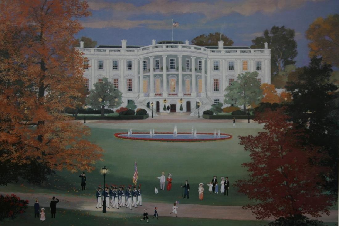 """MICHEL DELACROIX, Title """"The White House"""" Off set"""
