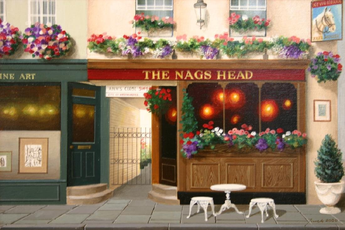 "JUREK JABLONSKI, Title ""The Nags Head"" Original"