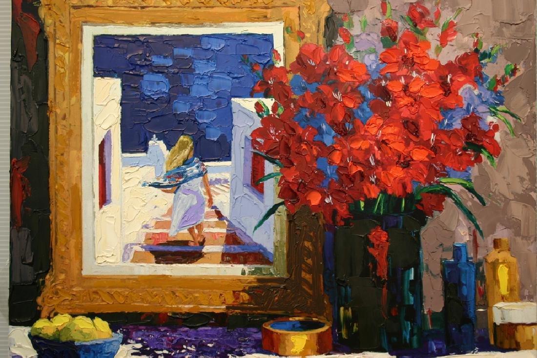 "BARBARA MCCANN, ""Santorini Still Life"" Embellished"