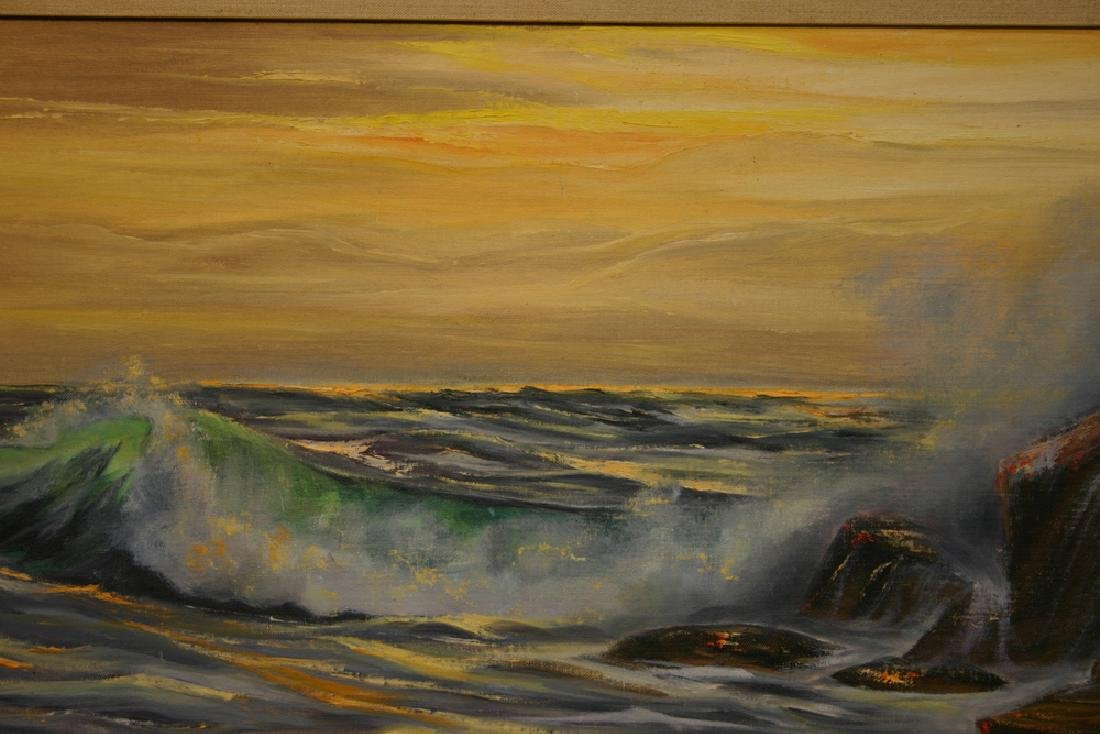 "AUDREY SCHARMEN, Title ""Ocean View"" Original oil"