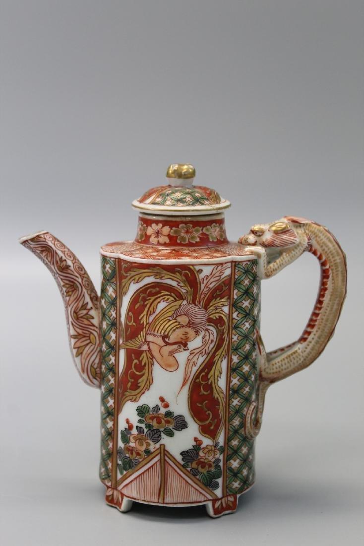 Japanese Satsuma teapot.  Provenance Virginia estate.