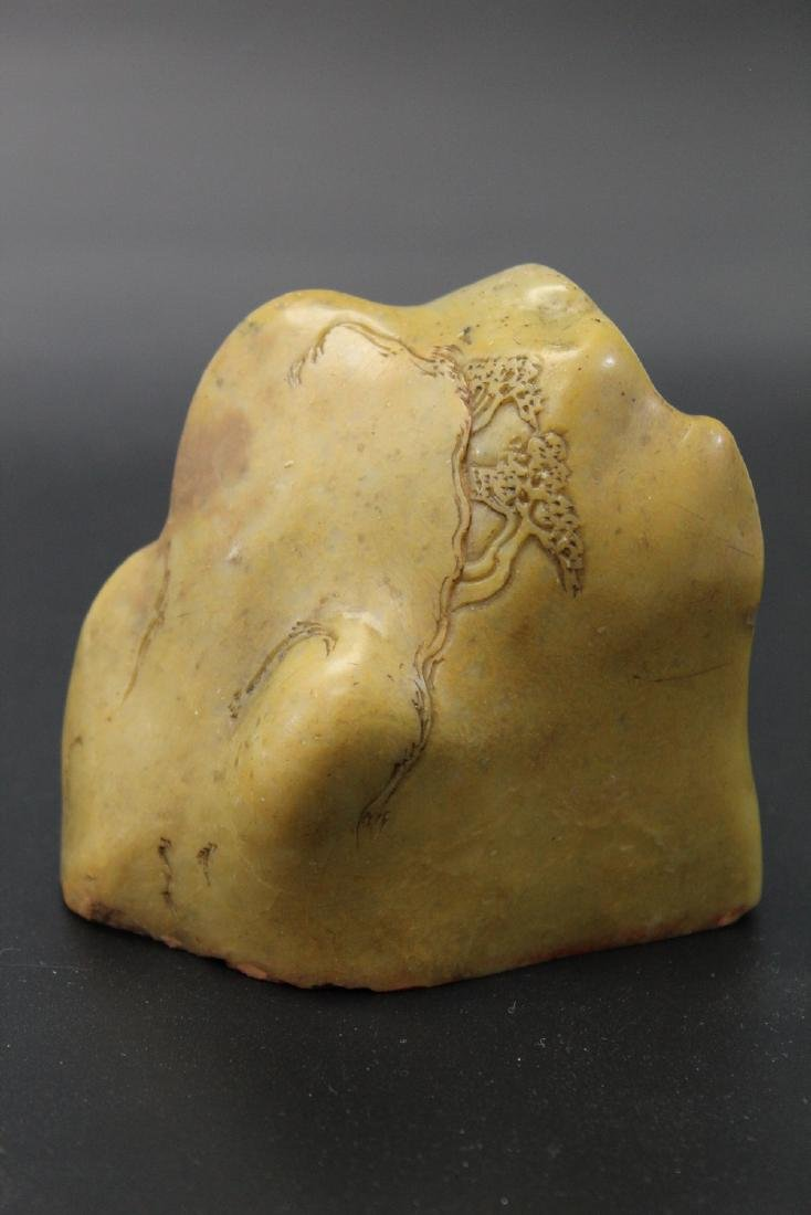 Chinese carved soapstone seal, Qing Dynasty.