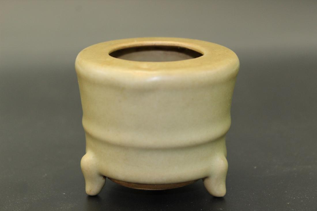 Chinese Longquan celadon tripod censor, Ming Period.