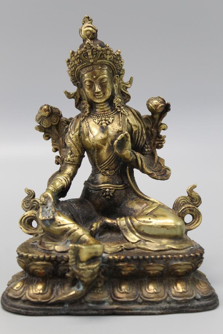 Chinese bronze figure of buddha.