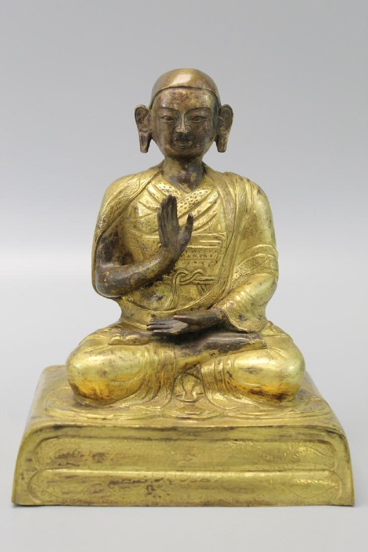 Chinese gilt bronze figure.