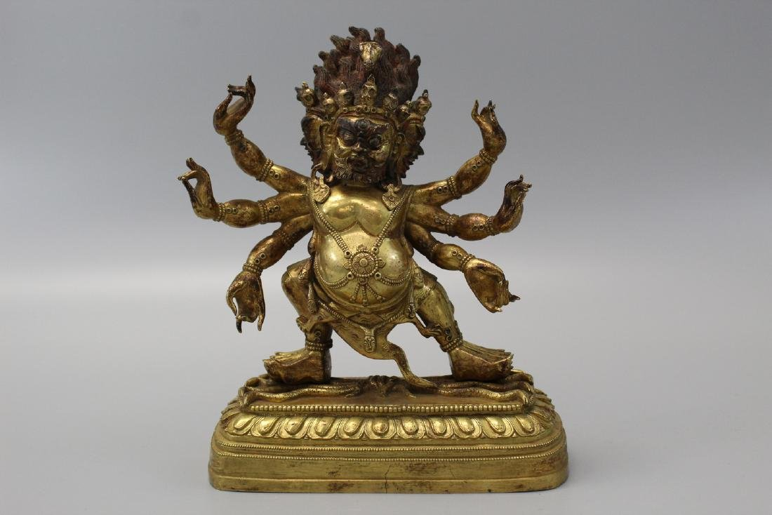 Chinese gilt bronze figure.